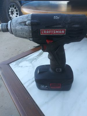 Craftsman Drill no charger One battery for Sale in Fallbrook, CA