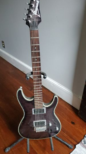 Ibanez sa series electric guitar. Gray, black purple and mother of pearl inlays for Sale in Manchester, CT