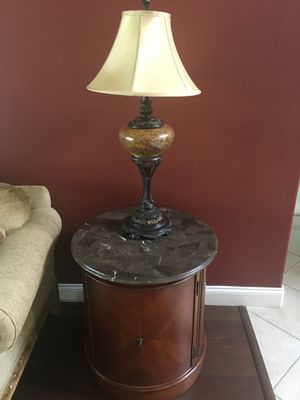 Circular end table/cabinet for Sale in Ocoee, FL