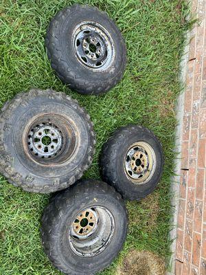 Four wheeler wheels for Sale in Houston, TX
