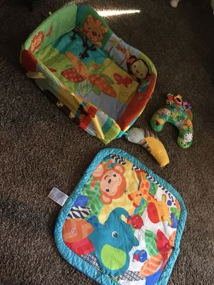 Baby Items *READ DESCRIPTION* | (Bright Stars Tummy-time Mat & accessories | Baby Clothes *mainly 0-3 some 3-6* for Sale in Newark, OH