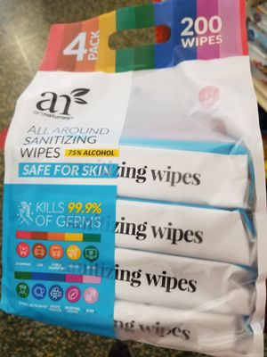 Artnaturals sanitizing wipes 75% alcohol for Sale in Los Angeles, CA