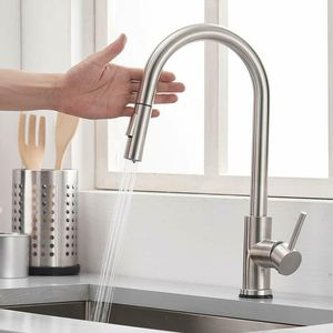 Automatic Touch Sensor Kitchen Faucet Sink Pull down Sprayer Stainless Steel for Sale in New York, NY