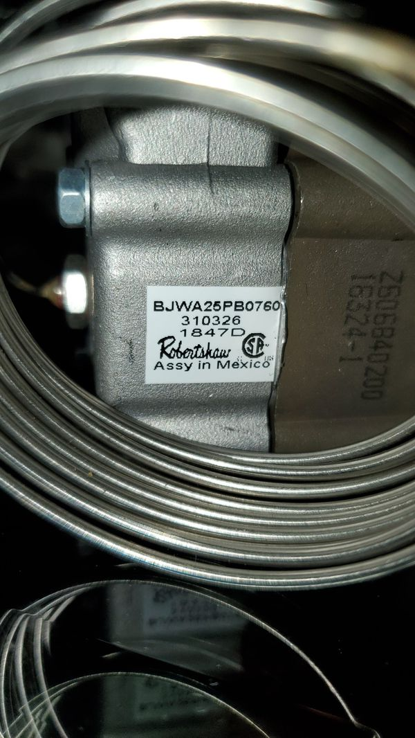 4350-128 Robertshaw Commercial Gas Oven Thermostat.