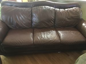 Leather couch for Sale in Hillsborough, NC