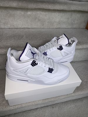 Jordan Retro 4 metallic Purple Size 12 DS for Sale in Troy, MI