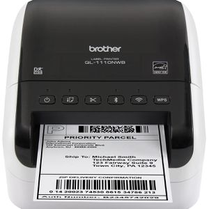 Brother QL-1110NWB Wide Format, Postage And Barcode Professional Thermal Label Printer With Wireless Connectivity for Sale in Pompano Beach, FL