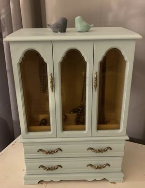 Jewelry Dresser in Vintage Sea Glass Color for Sale in South Gate, CA