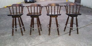 4 bar chairs solid wood for Sale in Pasadena, TX