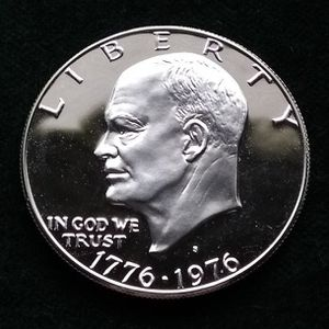 1976-S silver bicentennial Eisenhower IKE uncirculated gem proof dollar coin for Sale in San Mateo, CA