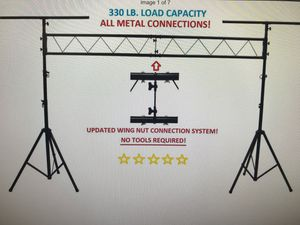 LK-X10 10Ft Pro Audio DJ Portable Light Lighting Fixture T-Bar Stands for Sale in San Lorenzo, CA