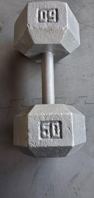 50lb dumbbell for Sale in Whittier, CA