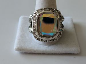 Designer style large aurora borealis gemstone ring for Sale in Mifflinburg, PA