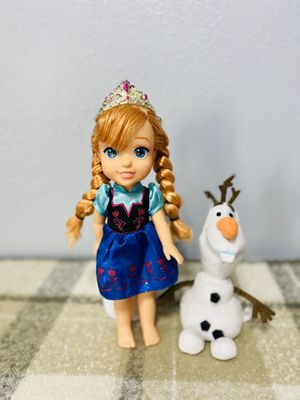 Disney Frozen anna doll and olaf plush for Sale in Compton, CA