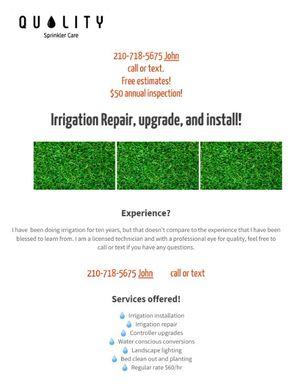 Quality Sprinkler care for Sale in San Antonio, TX