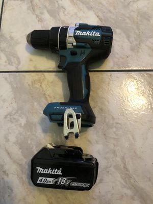 New Makita 18-Volt LXT Lithium-Ion 1/2 in. Brushless Cordless Hammer Driver-Drill with 4.0 battery $170 for Sale in Lauderhill, FL