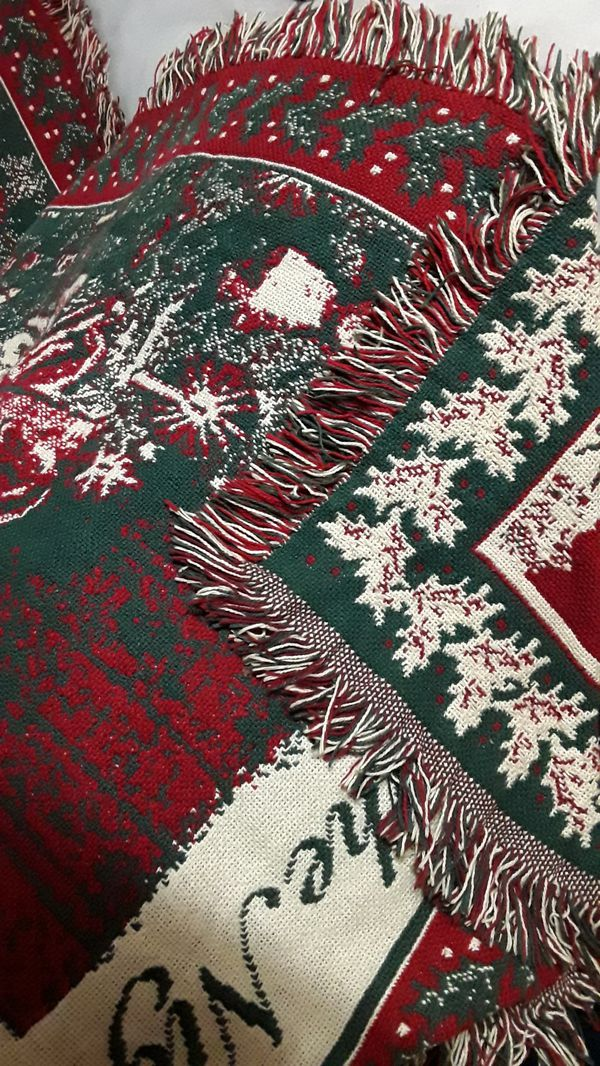 Twas the Night Before Christmas woven throw