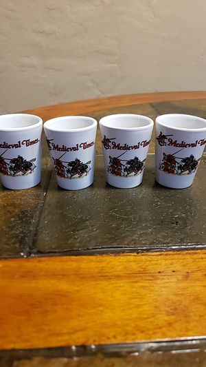 Medieval Times collectible shot glasses - set of 4 for Sale in Miami Springs, FL