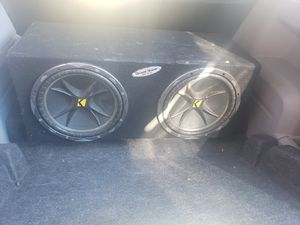 """2 12"""" kicker subwoofer box installed for Sale in East Compton, CA"""