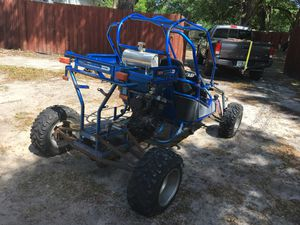 Buggy project frame extended 600 cc motorcycle engine Yamaha for Sale in Aloma, FL