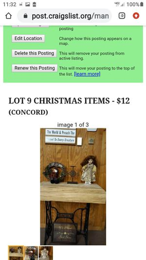 LOT 9 CHRISTMAS ITEMS for Sale in Lynchburg, VA
