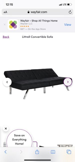 Black futon sofa for Sale in Los Angeles, CA