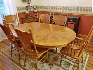Large Rustic Solid Oak Kitchen Table for Sale in Greenwood, DE