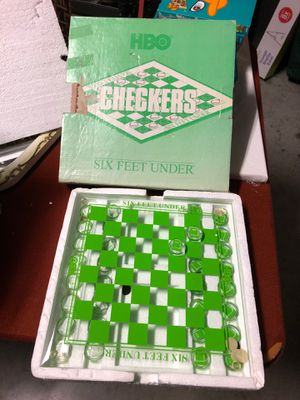 Glass checker board game set HBO six feet under for Sale in McKinney, TX