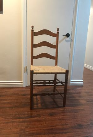 Set of 6 rush seat antique cherry wood chairs for Sale in San Dimas, CA