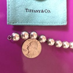 Tiffany & Co 925 Silver Bead Ball Chain Bracelet for Sale in Tustin,  CA