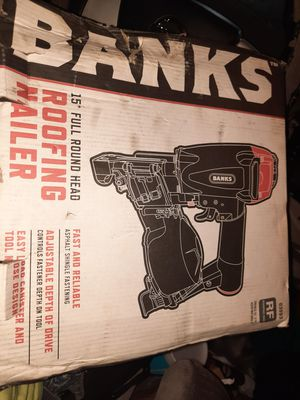 BANKS COIL NAILGUN NEVER BEEN USED for Sale in West Palm Beach, FL