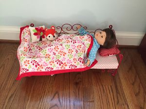 Our Generation bed, accessories, and PJs (Sized for American Girl dolls) for Sale in Arlington, VA