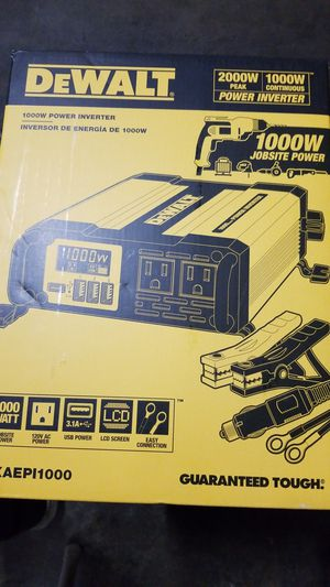 Dewalt 1000W power inverter for Sale in Sacramento, CA