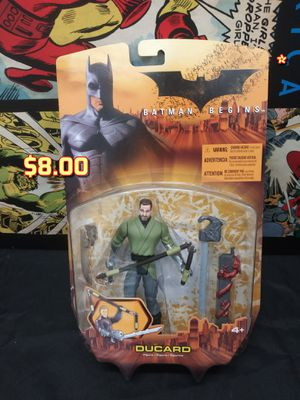2005 Mattel Batman Begins Movie DUCARD Green Shirt Action Figure MOC for Sale in Alameda, CA