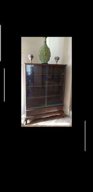 Antiques glass cabinet for Sale in Phoenix, AZ
