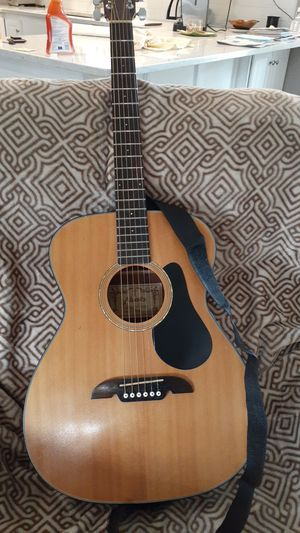 Beautiful Alvarez acoustic guitar! model number RFA comes with the backstrap new strings for Sale in Centralia, WA