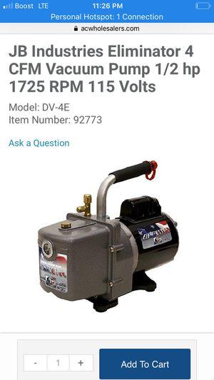 Eliminator 4 cfm vacuum pump for Sale in Tullahoma, TN