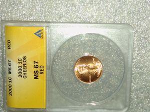 2001 penny. Cheerios. for Sale in Carrollton, TX