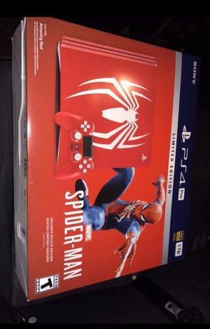Spiderman Edition PS4 Pro for Sale in Riverside, CA