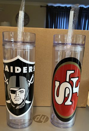 Raiders and 49ers cup for Sale in Fairfield, CA