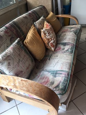 Queen size wood futon for Sale in West Palm Beach, FL