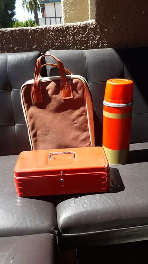 Antique lunch box with carrier for Sale in Los Angeles, CA