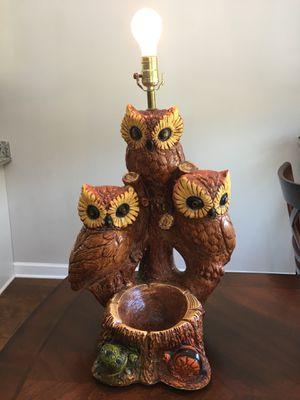 Vintage Large Mid Century Modern 3 Owl Lamp Ashtray for Sale in Murfreesboro, TN
