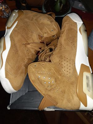"""Size 8.5 Jordan retro 6 """"wheat """" 9/10 condition OG box and all for Sale in Everett, WA"""