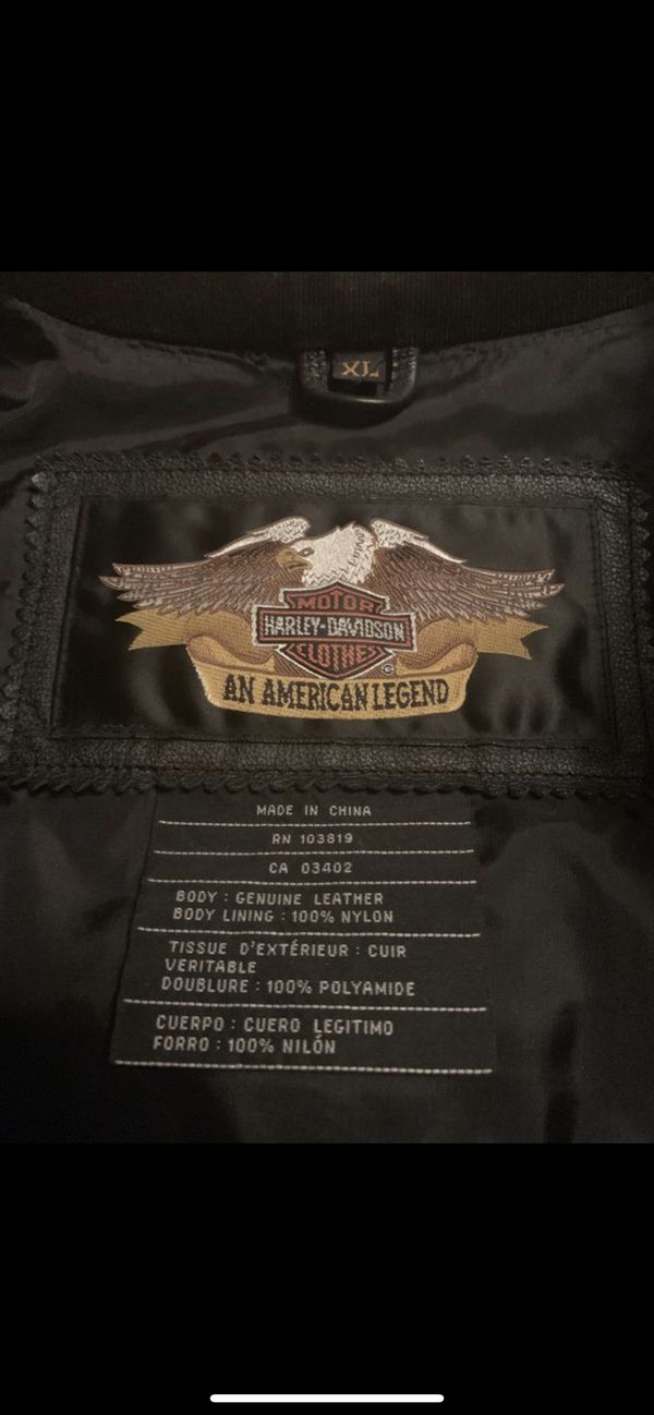 Authentic Leather Harley Davidson Jacket (XL)