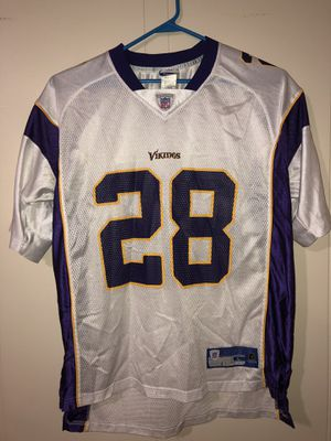 Adrian Peterson Vikings NFL Jersey Size Large Reebok for Sale in Chelsea, MA