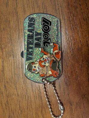 Disney Veterans day 2007 pin limited edition of 1500 with Chip and Dale for Sale in Glendale, AZ