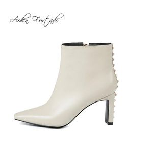 3 inch leather studded ankle boots for Sale in San Leandro, CA
