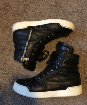 Balmain Mens Perforated Black Leather High Top Sneakers for Sale in Miami, FL