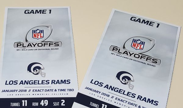 Rams vs. Falcons - Game 1 Playoffs tickets for sale.
